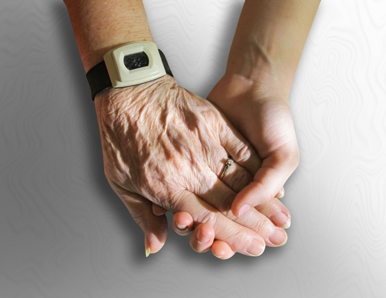 care palliative hands old elderly holding